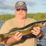 Brian and 26 inch Walley - Island Lake 2012